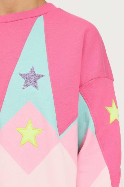 TEEN IDOL Felpa donna rosa teen idol girocollo con maxi ricamo logo sul retro  Felpe | 029784200