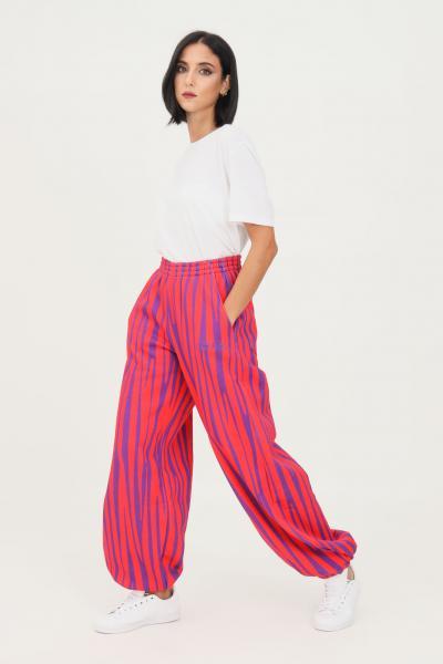 TEEN IDOL Pantaloni donna viola rosso teen idol casual con stampa allover  Pantaloni | 029787200