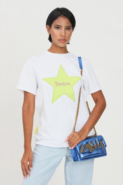 TEEN IDOL T-shirt donna bianco teen idol a manica corta con ricamo stella e logo frontale  T-shirt | 029797001