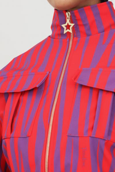 TEEN IDOL Felpa donna rosso viola teen idol con zip taglio corto  Felpe | 029808200