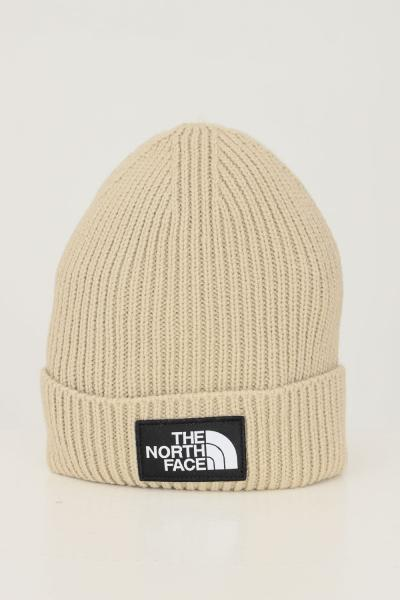 THE NORTH FACE Cappello unisex beige the north face con applicazione logo frontale  Cappelli   NF0A3FJXCEL1CEL1
