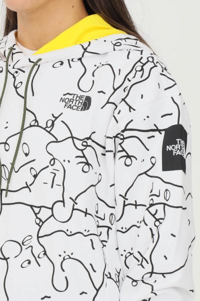THE NORTH FACE Felpa donna bianco the north face con cappuccio e stampa allover  Felpe   NF0A5ICJ26C126C1