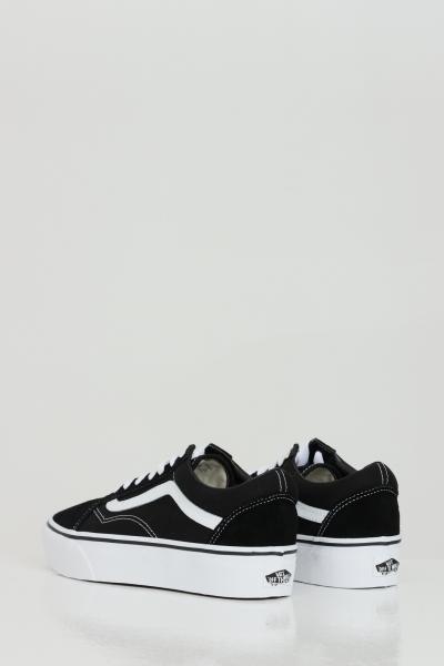 Sneakers old skool platform donna nero con logo a contrasto  Sneakers | VN0A3B3UY281Y281
