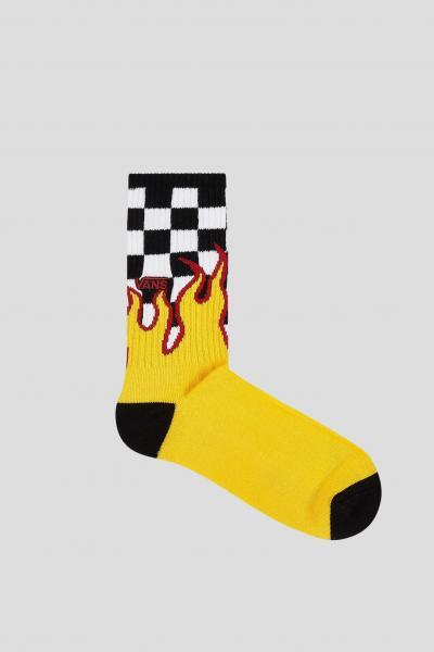 VANS Calzini unisex giallo vans con stampa fiamma  Calzini | VN0A4TQHZIAZIA