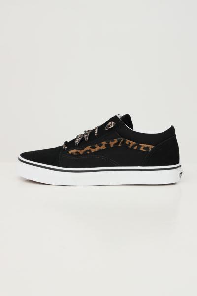VANS Sneakers old skool donna nero vans con inserti leopard  Sneakers | VN0A4UHZNU01NU01