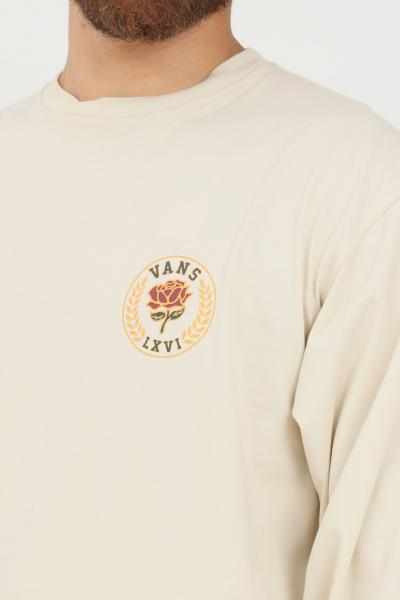 VANS T-shirt uomo beige vans a manica lunga con stampa frontale  T-shirt | VN0A5FQH2N112N11