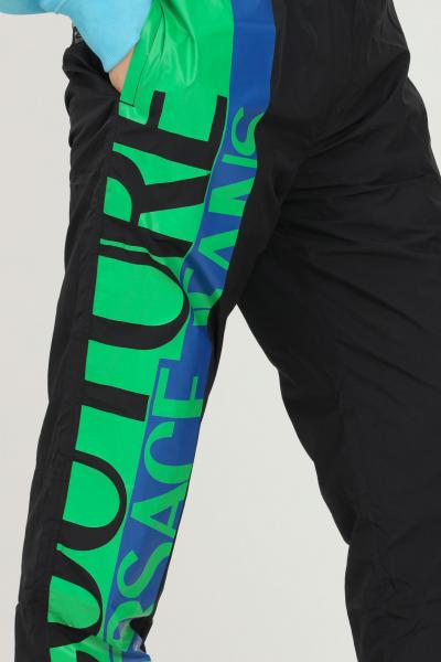 VERSACE JEANS COUTURE Pantaloni nero uomo versace jeans couture con logo laterale  Pantaloni   71GAA102CQS04899