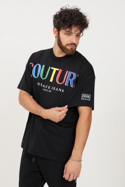 VERSACE JEANS COUTURE T-shirt uomo nero versace jeans couture a manica corta  T-shirt   71GAHP02CJ00P899