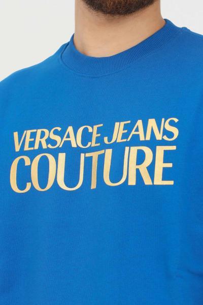 VERSACE JEANS COUTURE Felpa blu uomo versace jeans couture girocollo  Felpe   71GAIT08CF00TG43(243+948)