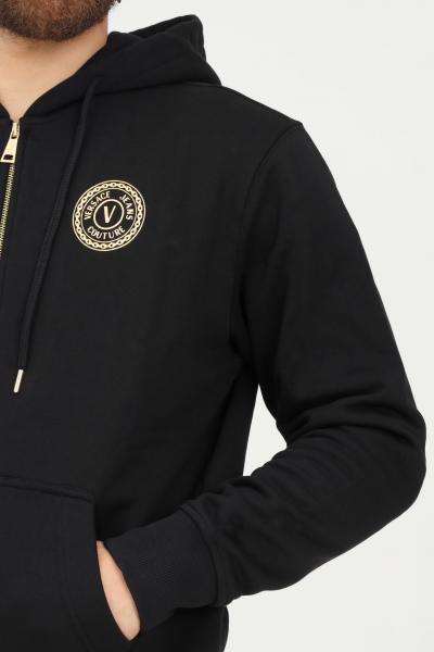 VERSACE JEANS COUTURE Felpa uomo nero versace jeans couture con zip e cappuccio  Felpe   71GAIT09CF00TG89(899+948)