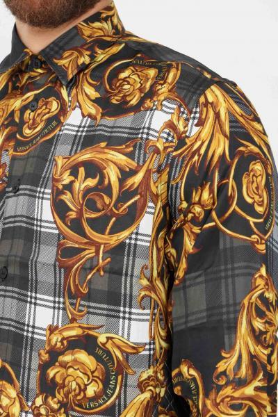 VERSACE JEANS COUTURE Camicia uomo fantasia versace jeans couture casual con stampa allover  Camicie   71GAL2R6NS029G80(800+ORO)