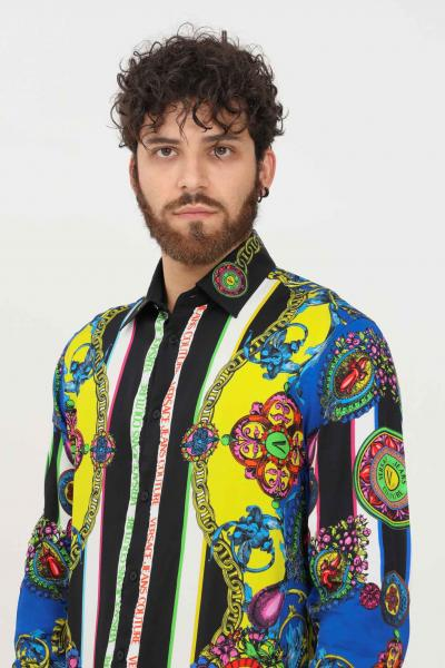 VERSACE JEANS COUTURE Camicia uomo versace jeans couture con stampa allover  Camicie   71GAL2R9NS032982