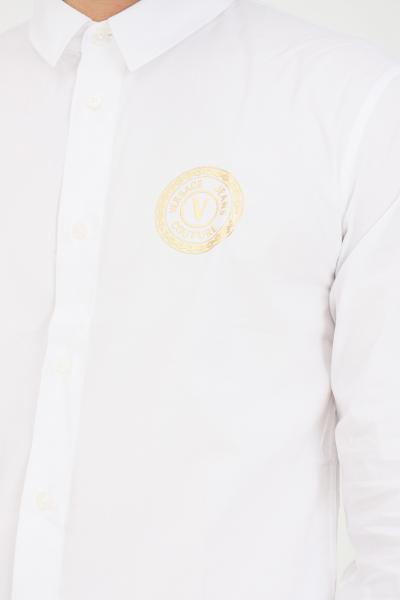 VERSACE JEANS COUTURE Camicia uomo bianco versace jeans couture elegante con stampa logo  Camicie   71GAL2S1CN001003