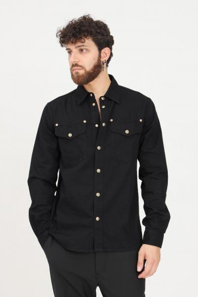 VERSACE JEANS COUTURE Camicia nero uomo versace jeans couture con bottoni  Camicie   71GALC09CDW05909