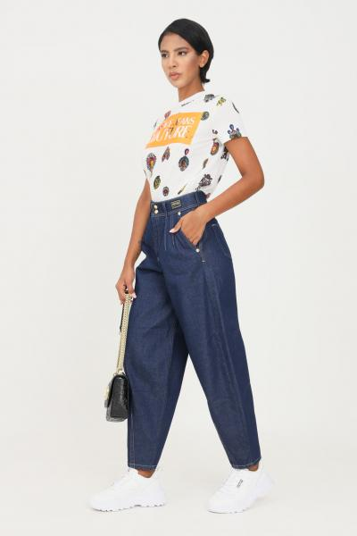 VERSACE JEANS COUTURE Jeans donna blu versace jeans couture a vita alta  Jeans | 71HAB55IDW007054904