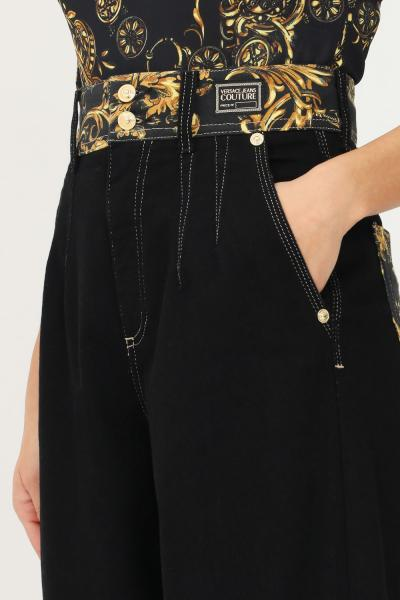 VERSACE JEANS COUTURE Pantaloni donna nero versace jeans couture modello causal  Pantaloni | 71HAB5IMDW011ITN909