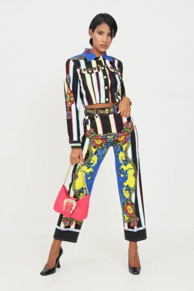 VERSACE JEANS COUTURE Jeans donna versace jeans couture con stampa regalia  Pantaloni | 71HAB5TLES010054MC2
