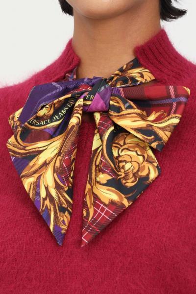 VERSACE JEANS COUTURE Maglioncino viola donna versace jeans couture con fiocco  T-shirt | 71HAF818CM01N341