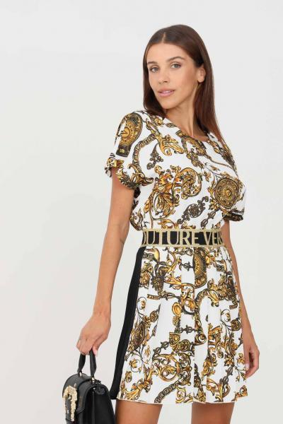 VERSACE JEANS COUTURE Blusa donna fantasia versace jeans couture a manica corta con stampa allover  Bluse | 71HAH206NS006G03(003+948)