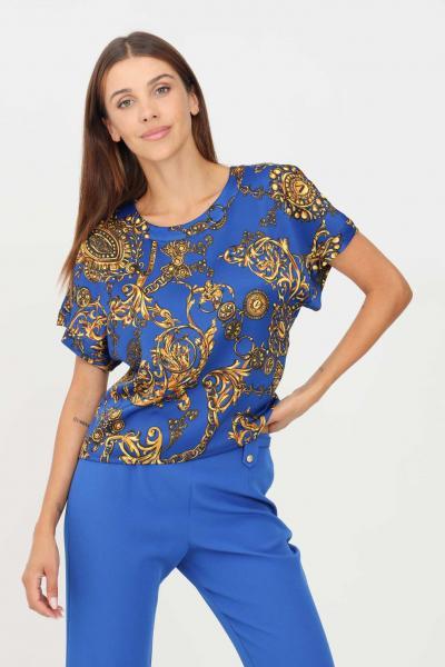 VERSACE JEANS COUTURE Blusa donna fantasia versace jeans couture a manica corta con stampa allover  Bluse | 71HAH206NS006G24(243+948)