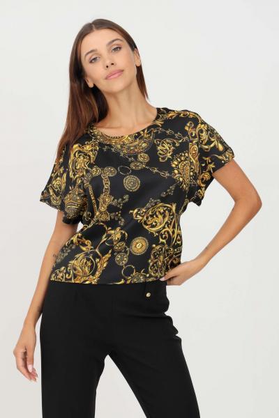 VERSACE JEANS COUTURE Blusa donna fantasia versace jeans couture a manica corta con stampa allover  Bluse | 71HAH206NS006G89(899+948)