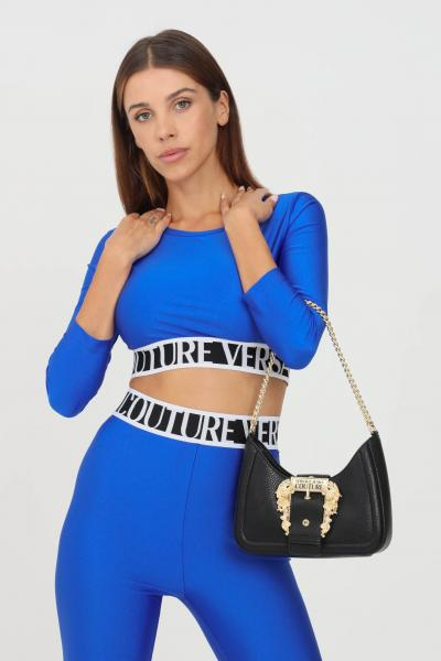 VERSACE JEANS COUTURE Top donna cobalto versace jeans couture modello casual crop  Top   71HAH218N0008243