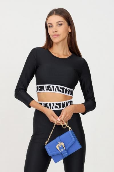 VERSACE JEANS COUTURE Top donna nero versace jeans couture modello casual crop  Top   71HAH218N0008899