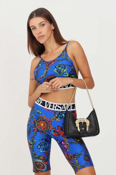VERSACE JEANS COUTURE Top donna cobalto versace jeans couture casual con banda elastica logata  Top   71HAM214JS008243