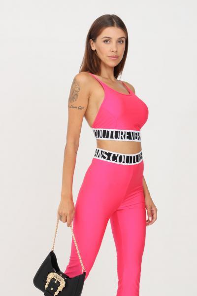 VERSACE JEANS COUTURE Top donna rosa fluo versace jeans couture modello casual taglio corto  Top   71HAM214N0008413