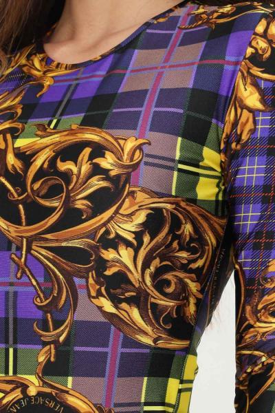 VERSACE JEANS COUTURE Body donna fantasia versace jeans couture elegante con stampa allover  Body | 71HAM221JSO20G37(337+ORO)