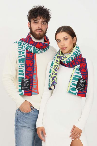 VERSACE JEANS COUTURE Sciarpa multicolor versace jeans couture con logo allover  Sciarpe   71VA2H51ZG025982