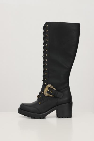 VERSACE JEANS COUTURE Stivali fondo mia donna nero versace jeasn couture con fibbia logo oro  Stivali | 71VA3S95ZS002899