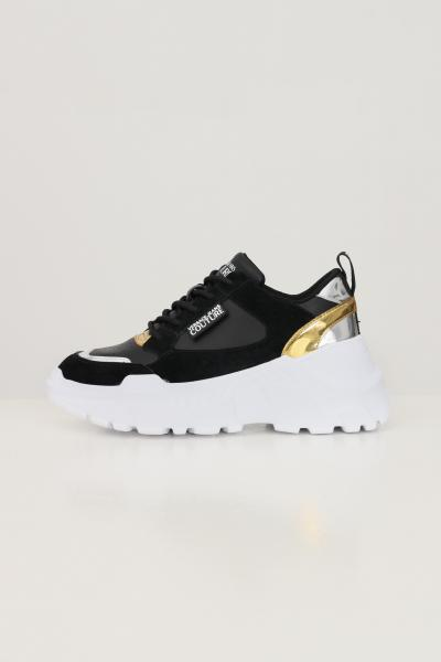 VERSACE JEANS COUTURE Sneakers fondo speedtrack donna nero versace jeans couture con para alta  Sneakers   71VA3SC2ZP002899