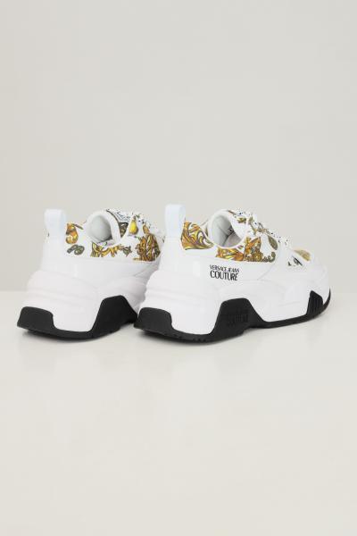 VERSACE JEANS COUTURE Sneakers fondo stargaze donna bianco versace jeans couture con stampa barocca  Sneakers | 71VA3SF3ZS026G03(003+948