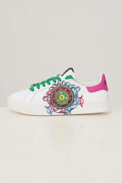 VERSACE JEANS COUTURE Sneakers donna bianco versace jeans couture con stampa barocca  Sneakers | 71VA3SK5ZP013003