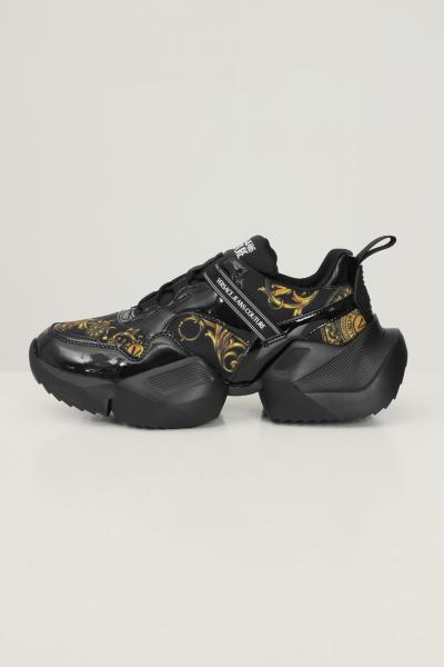 VERSACE JEANS COUTURE Sneakers gravity donna nero versace jeans couture con stampa barocca  Sneakers | 71VA3SU7ZS037G89(899+948)