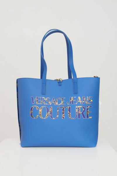 VERSACE JEANS COUTURE Borsa donna blue versace jeans couture reversibile  Borse   71VA4BZ171588G24(243+948)