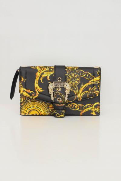 VERSACE JEANS COUTURE Borsa donna nero oro versace jeans couture con tracolla a catena  Borse | 71VA5PF671880G89(899+948)