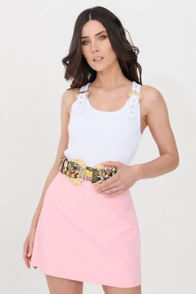 VERSACE JEANS COUTURE Top donna bianco versace jeans couture casual a costine  Top | D3HWA65110615003