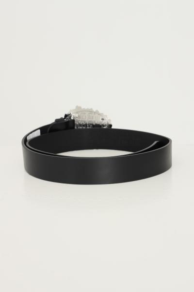 VERSACE JEANS COUTURE Cintura unisex nero versace jeans couture con maxi fibbia silver con logo inciso  Cinture   D8YWAF0571627NERO/ARGENTO