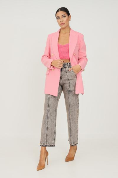 VICOLO Jeans donna nero vicolo con tasche laterali e sul retro  Jeans | DX5045DENIM