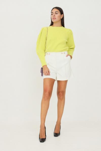 VICOLO Shorts donna bianco vicolo elegante con applicazioni morsetto in vita  Shorts   TX0066BIANCO