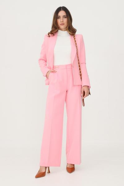 VICOLO Pantaloni donna rosa vicolo con applicazioni oro sul davanti  Pantaloni   TX0152ROSA