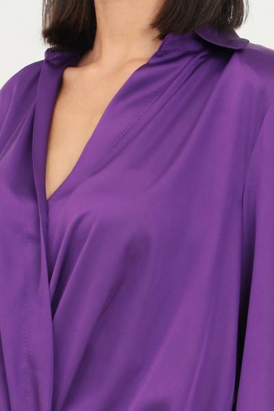 VICOLO Blusa donna viola vicolo con elastico sul fondo  Bluse | TX0303VIOLA
