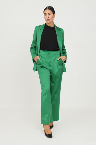 VICOLO Pantaloni donna verde vicolo modello elegante a zampa  Pantaloni   TX0372VERDE