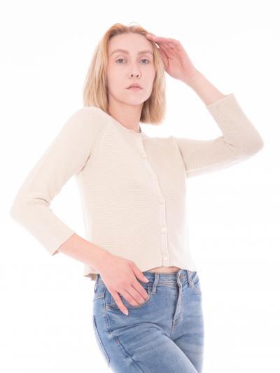 Cardigan donna color avorio  Cardigan | AZOTO001