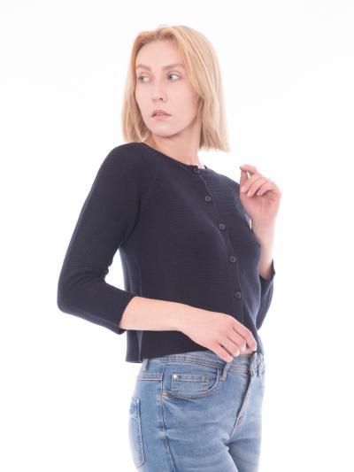 Cardigan corto di colore blue navy  Cardigan | AZOTO002