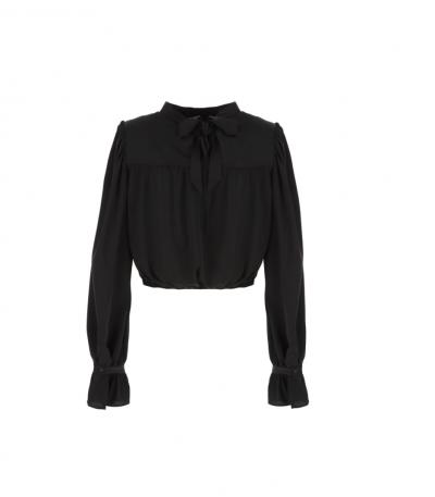 IMPERIAL Camicia fluida con tie-neck sulla schiena Imperial  Camicie | CJC5ACTNERO