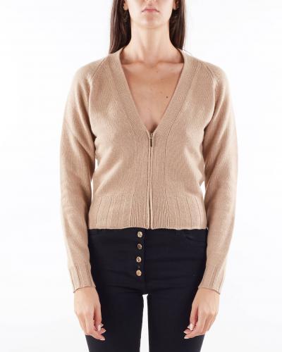 ANNA MOLINARI Cardigan con zip in lana Anna Molinari  Cardigan   7M003A169