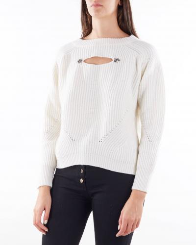 ANNA MOLINARI Maglia a costine con fiocco sul retro Anna Molinari  T-shirt   7M013A168